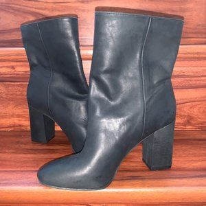 "LUCKY BRAND BLACK LEATHER ""WALWYN"" ANKLE BOOTS 9"